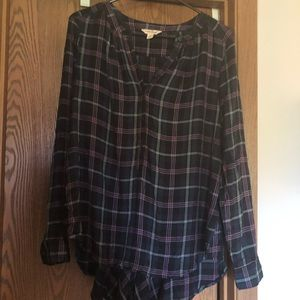 Lucky Brand plaid button up, size medium